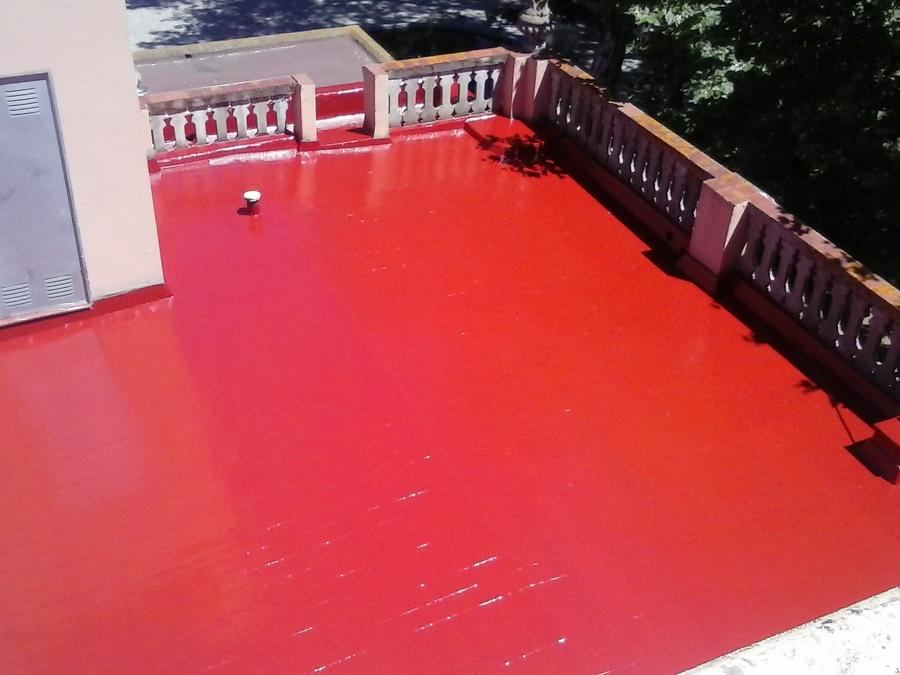 Terraza impermeabilizada con poliurea y protección UV
