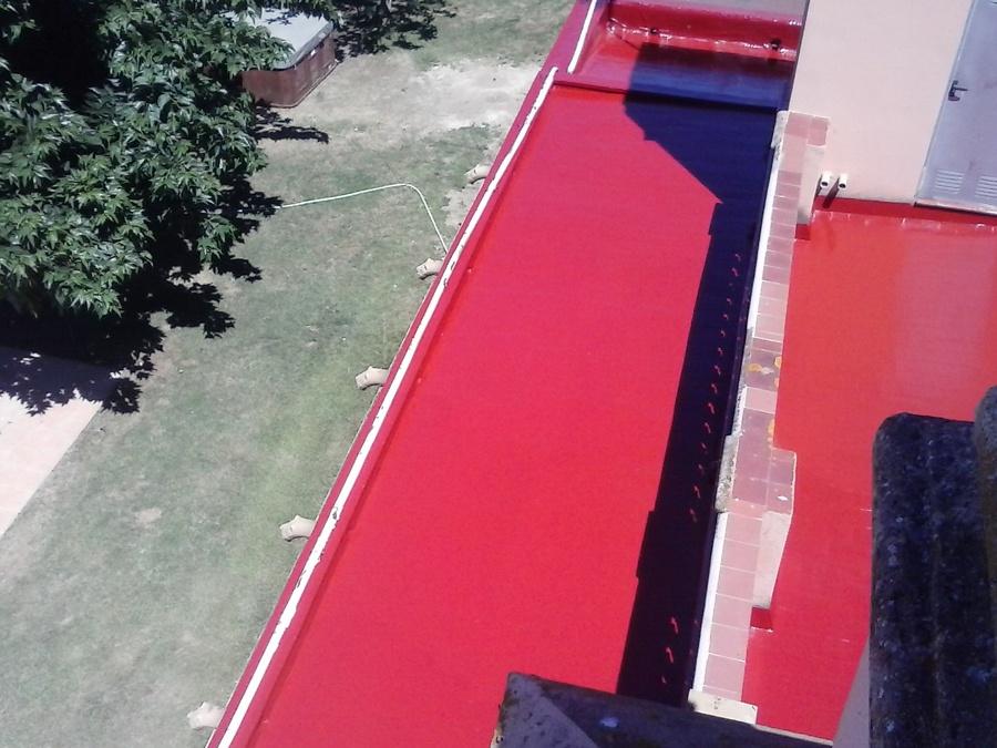 Terraza impermeabilizada sobre tela asfáltica