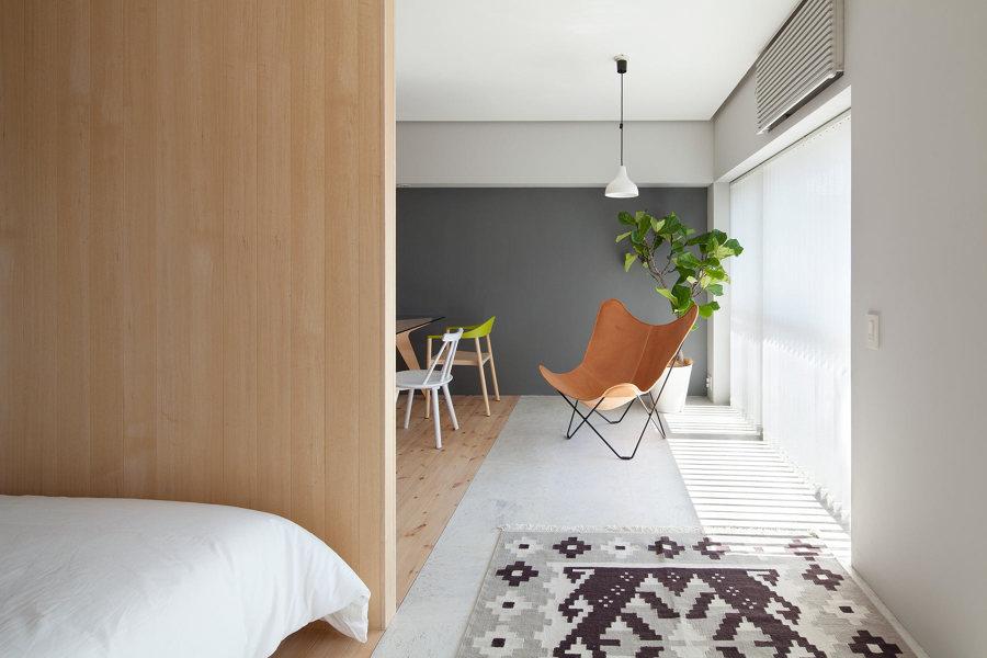 Terraza interior estilo japonés