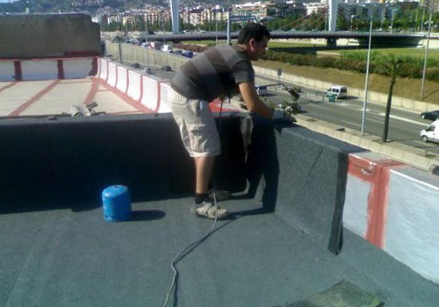 Foto terraza transitable de impermeabilitzats jm for Impermeabilizar terraza transitable