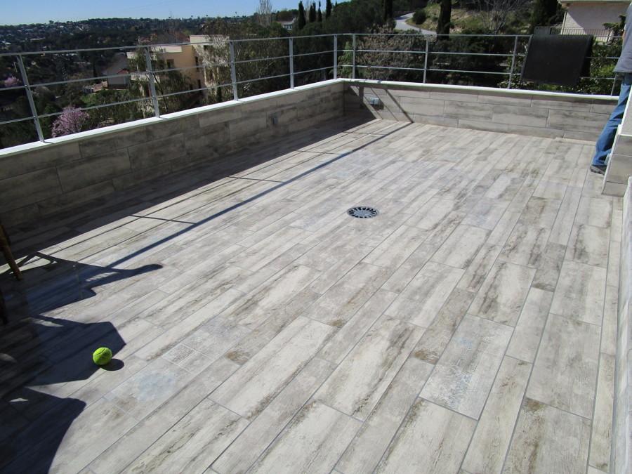 Terraza superior terminada
