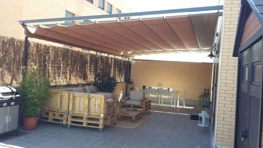 Foto terraza terminada con muebles y accesorios de pmp - Accesorios terraza ...