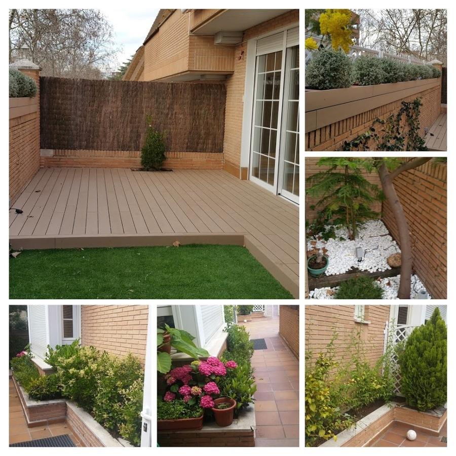 Terraza y jardin acogedor.