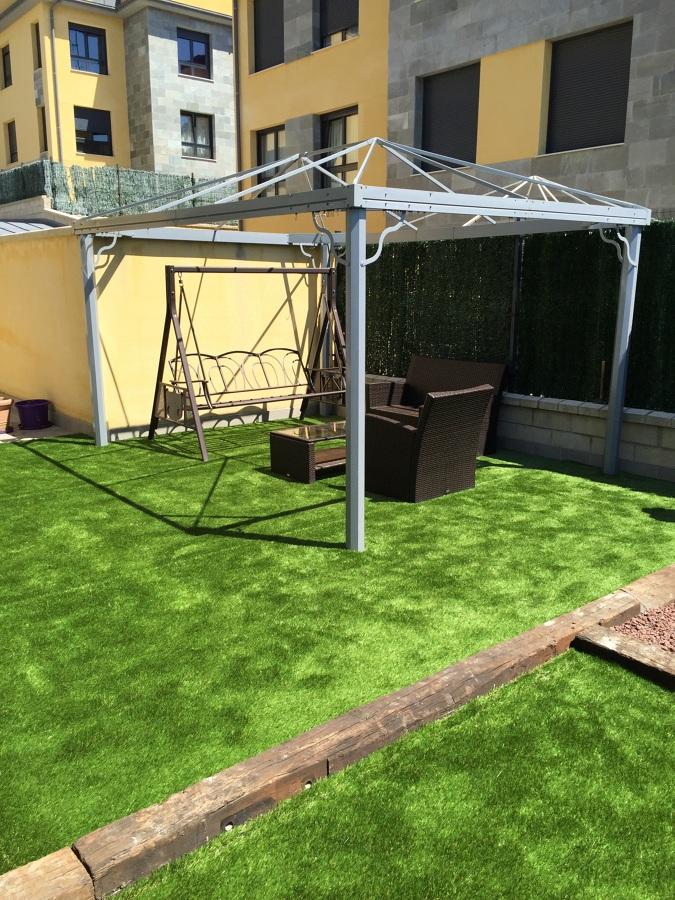 Terraza y jardín fusionado