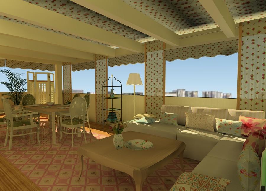 "terraza romántica o estilo ""shabby chic"""