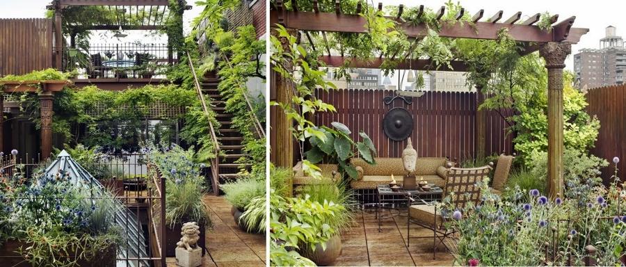 Terrazas en ticos un placer en las alturas ideas - Jardines en aticos ...
