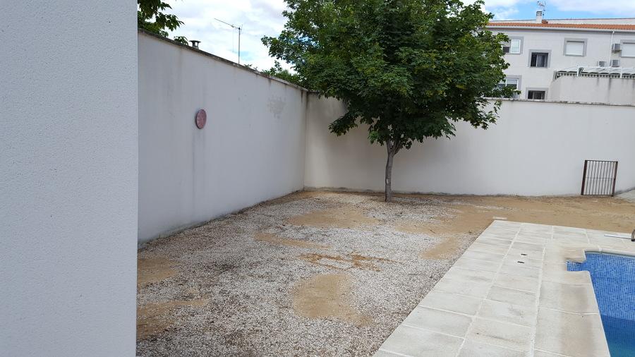 Terreno antes de la instalación
