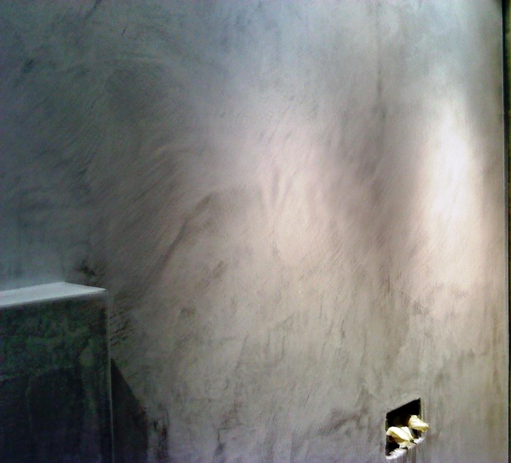 Foto textura del microcemento en la pared de iris - Microcemento en valencia ...