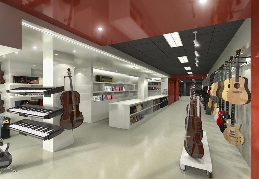 Foto tienda de instrumentos musicales de xte interiorismo - Interiorismo low cost ...