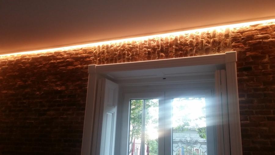 Tiras de LED en el techo