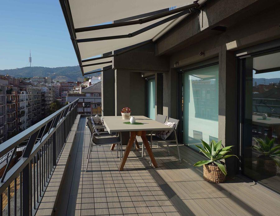 Toldo balcón extensible