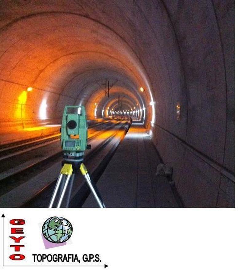 topografía en tuneles