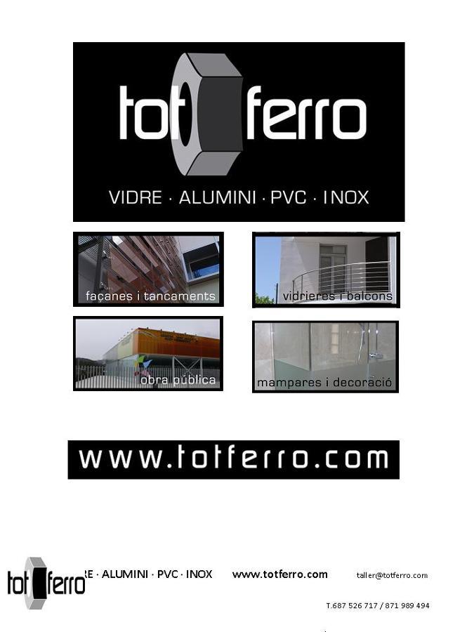 Tot Ferro Vidrio·Aluminio·PVC·Inox·Parquet