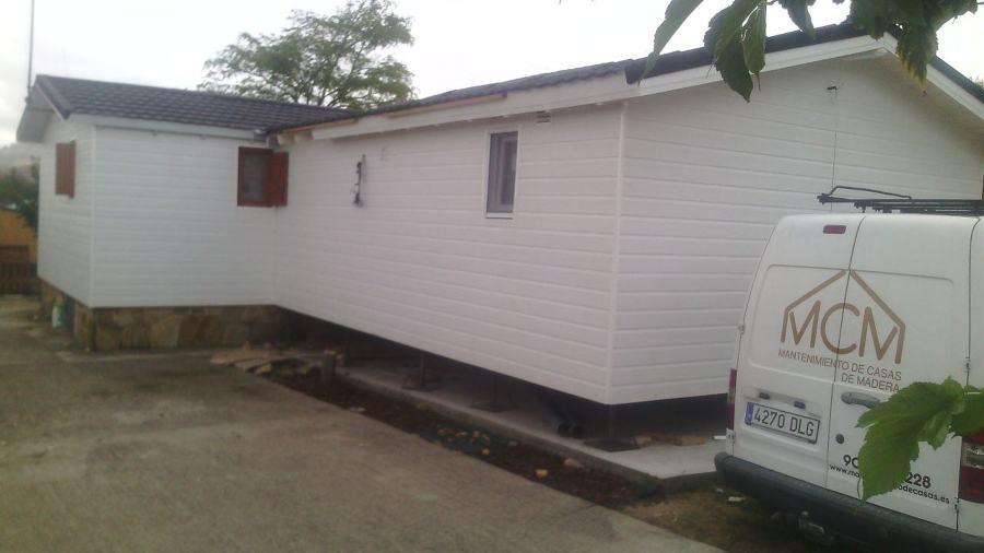 Construcci n de una casa prefabricada de madera con - Casas prefabricadas canexel ...