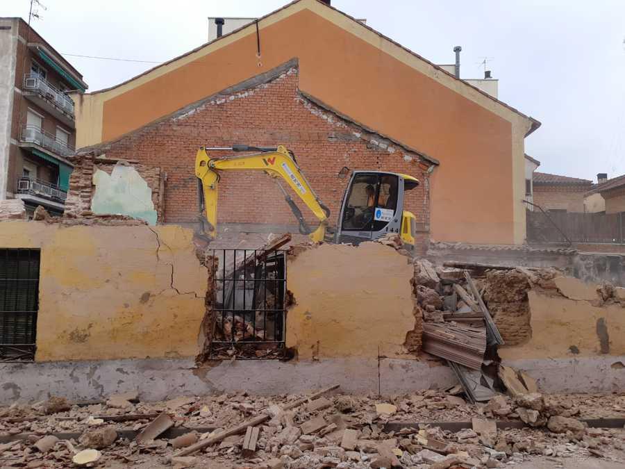 Trabajos durante la demolición