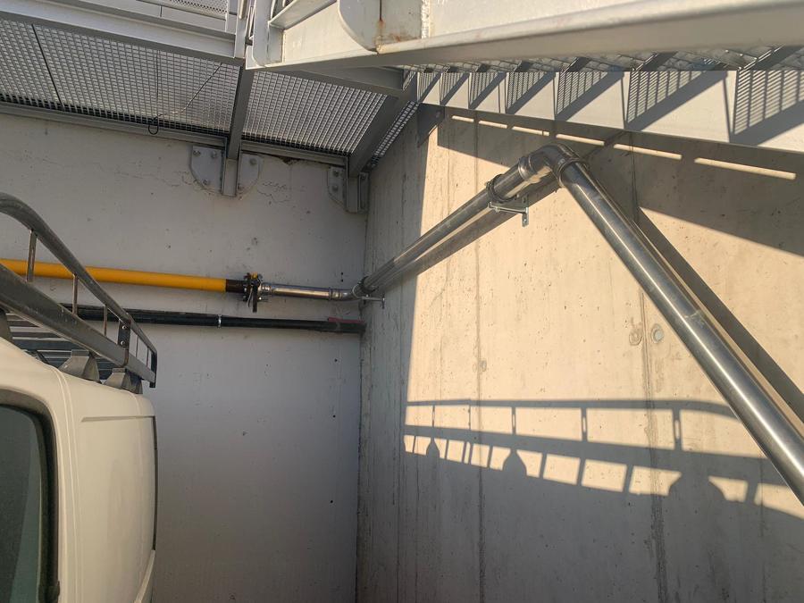 Transición acero inox /hierro por pletina con brida