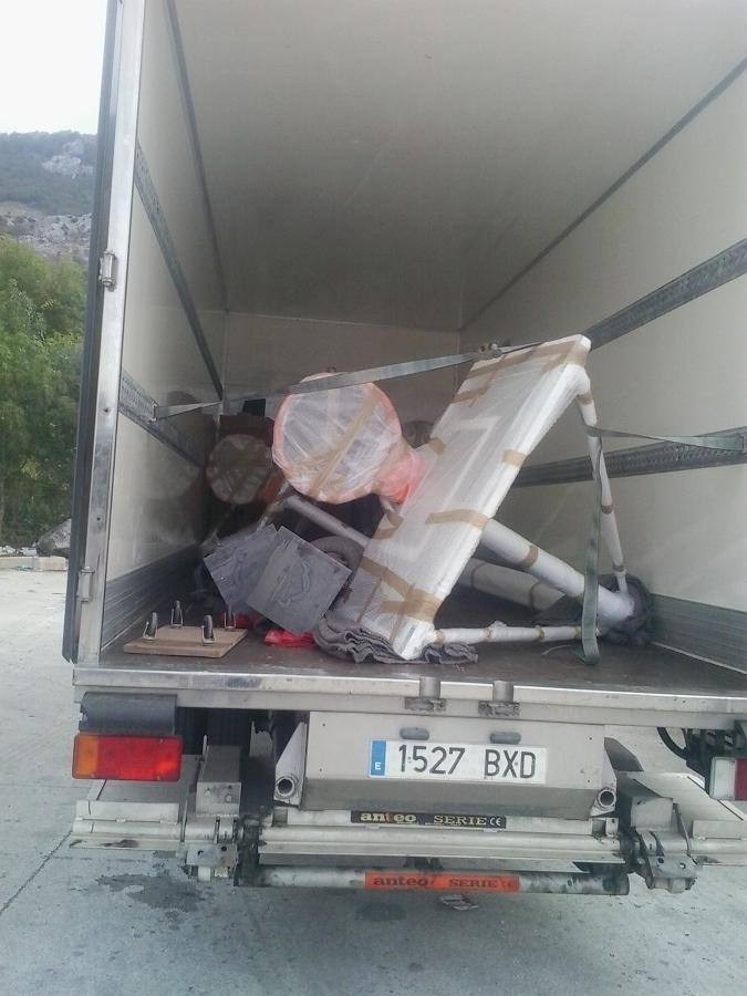 transporte y embalaje canastas de baloncesto