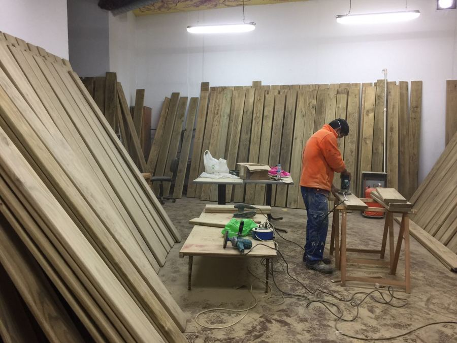 Tratamiento de la madera en taller