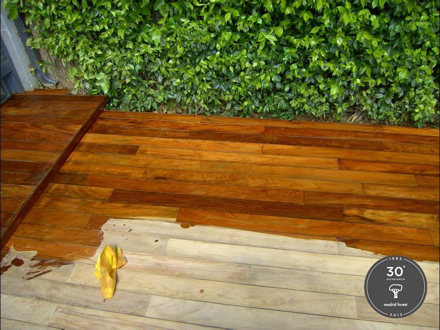 Foto tratamiento madera de exterior de madrid forest for Tratamiento madera exterior