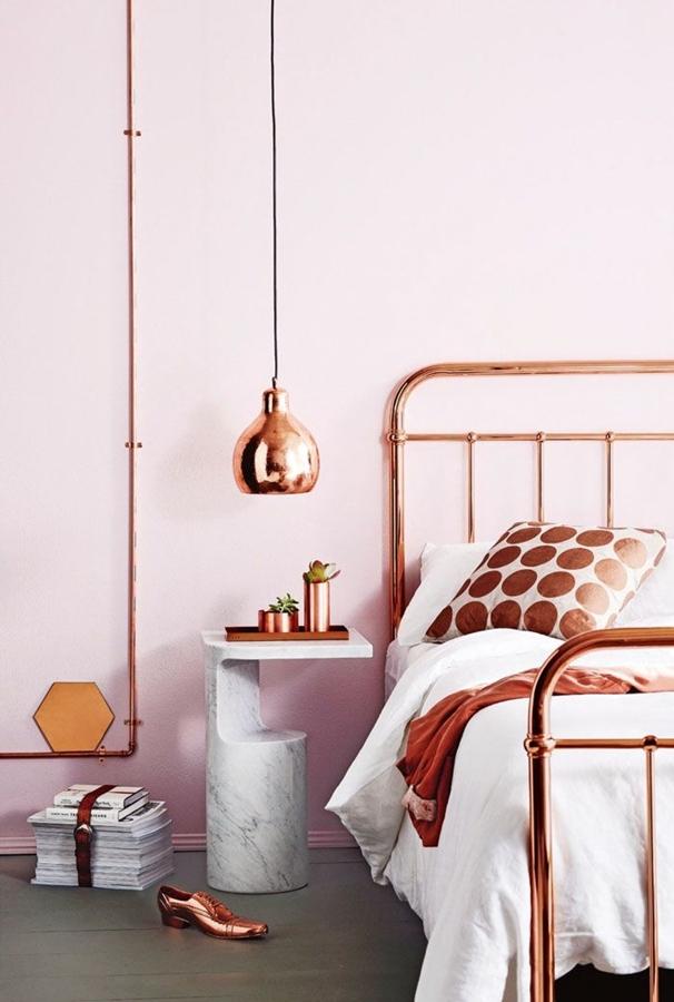 tuberías de cobre dormitorio
