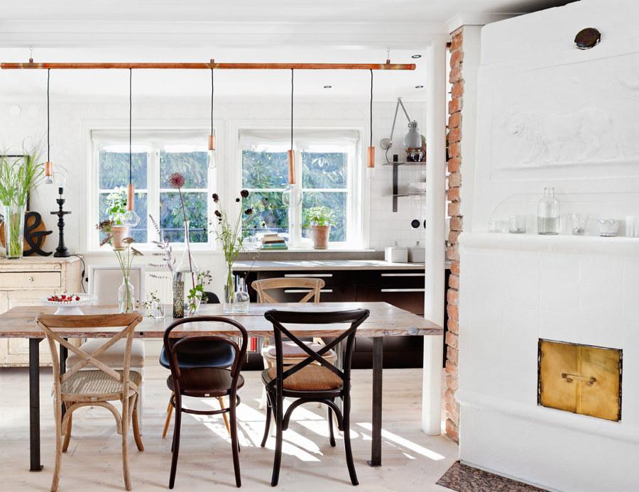 tuberías de cobre en casa rústica