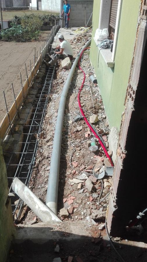 tubo evacuación reformado