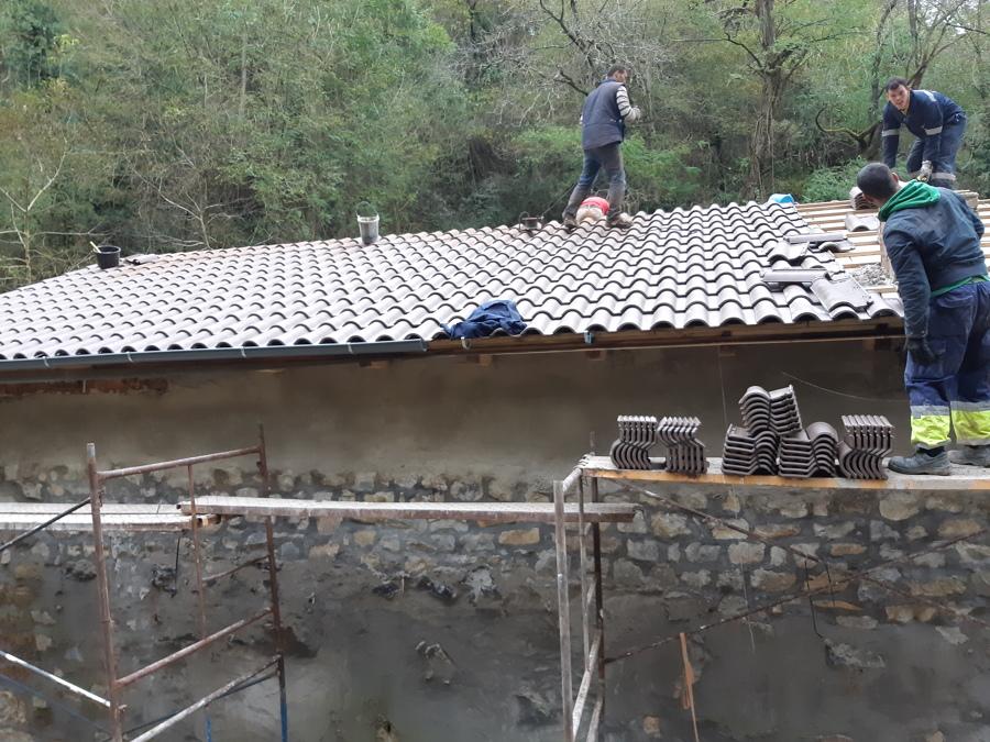 Ultimos remates del tejado
