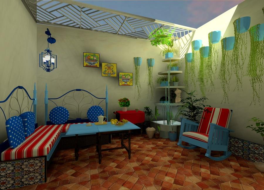 Foto un patio andaluz de romero navarro decoraci n online - Fotos patio andaluz ...