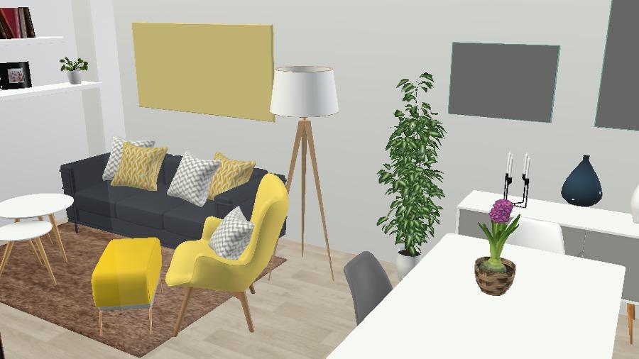 Un salón funcional para un espacio reducido.