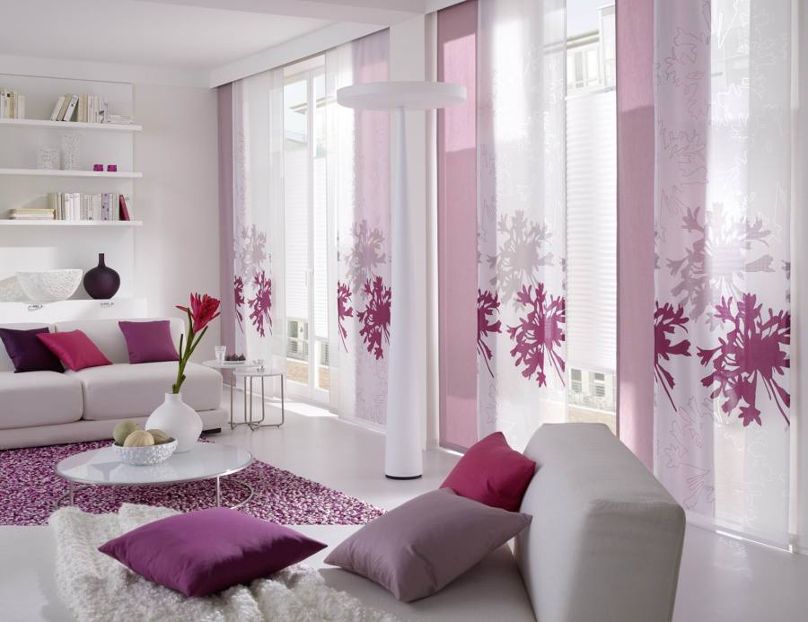 Cortinas y estores protege tu casa con estilo ideas - Paneles japoneses cortos ...