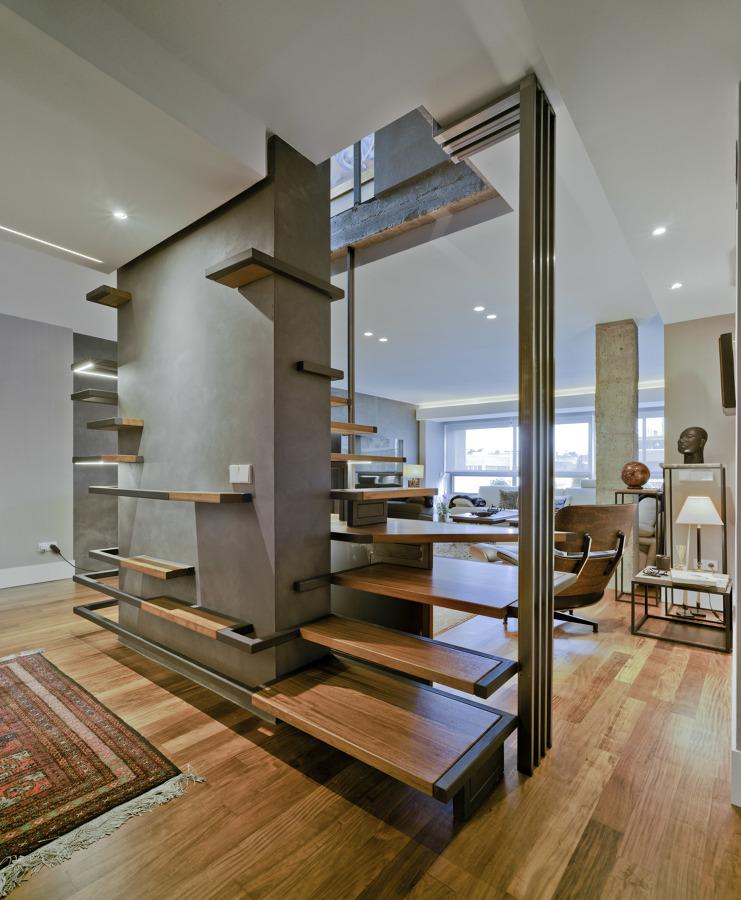 Una escalera que rompe moldes