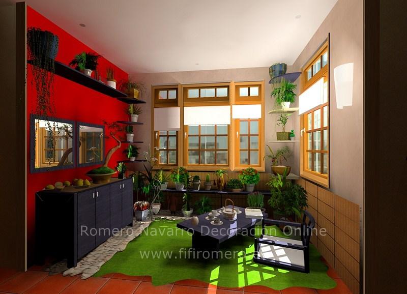 Una habitación convertida en terraza