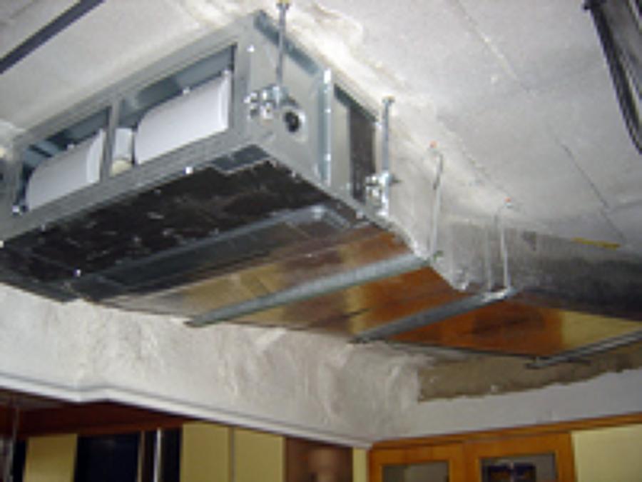 Foto unidad interior aire acondicionado de termia plus for Maquina aire acondicionado por conductos
