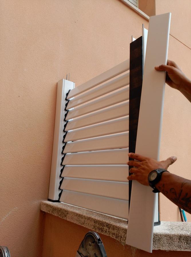 Foto valla de aluminio de toldos p rgolas carpinter a - Vallas de aluminio ...