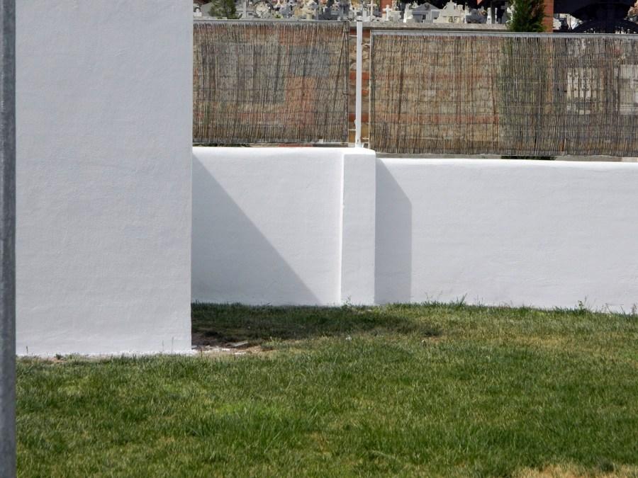valla de piscina despues de aplicacion revestimiento