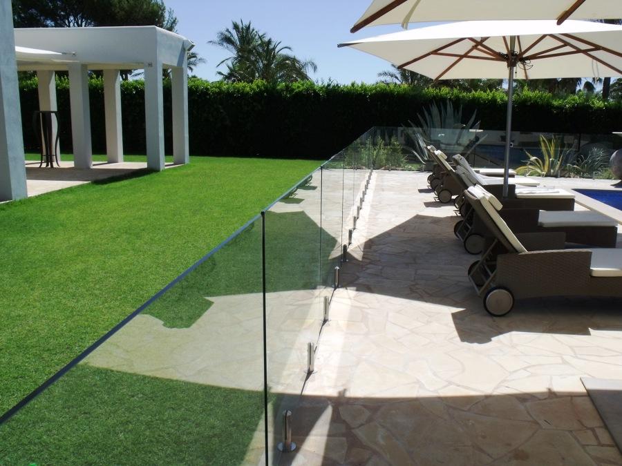 Vallado piscina cristal 12 mm Ibiza