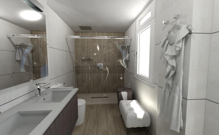 Baño en vestidor