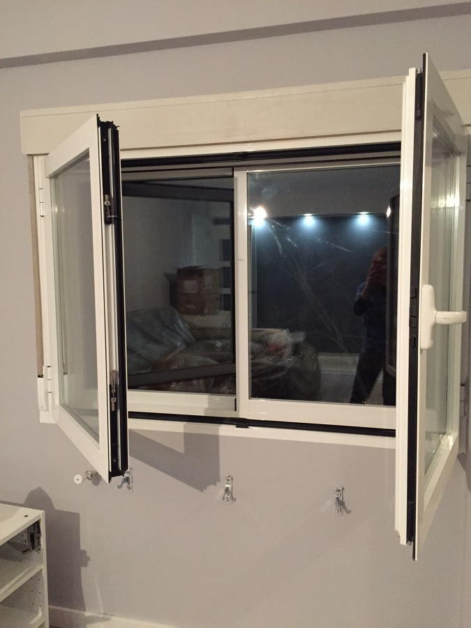 Foto ventanas de aluminio con climalit doble ventana de for Ventanas de pvc doble vidrio argentina