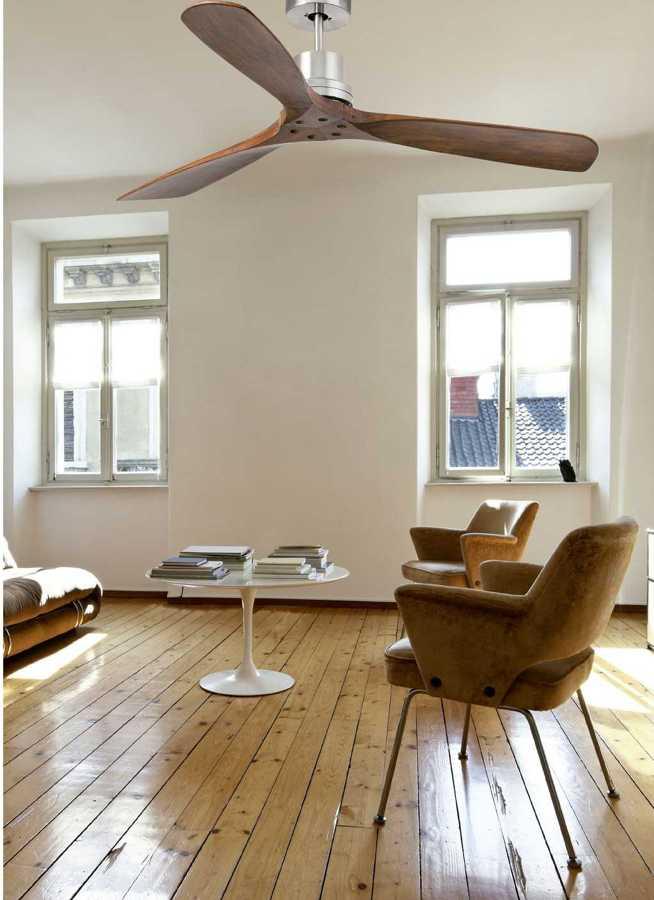 Foto ventilador de techo madera de mahico soluciones - Ventiladores de techo rusticos ...
