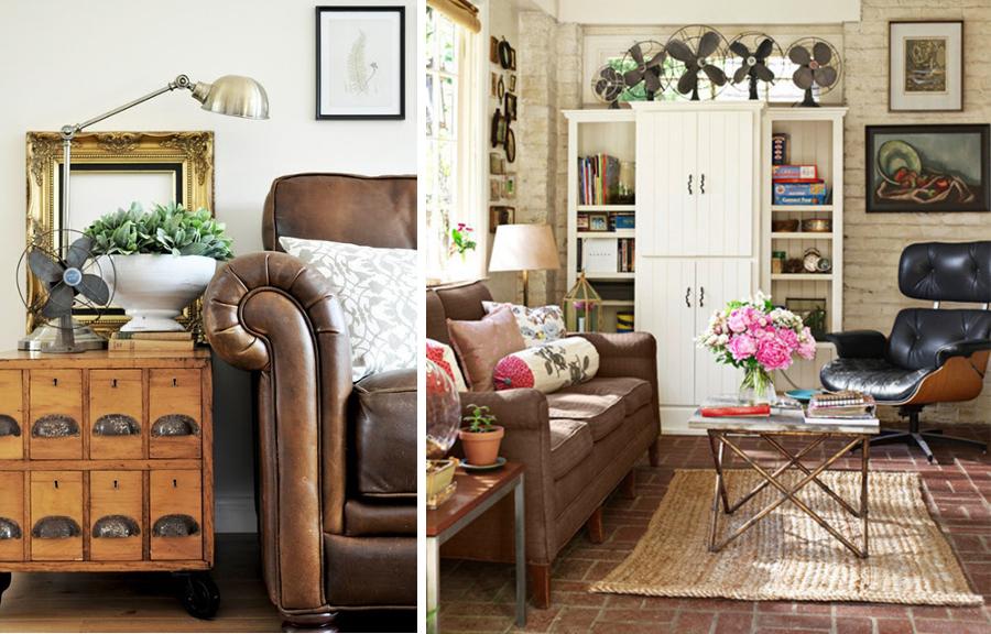 Ventiladores vintage que refrescan la decoraci n del hogar - Decoracion de salones vintage ...
