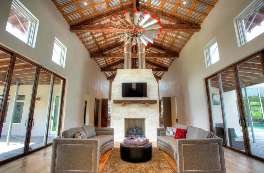 ventilador techo con forma de molino