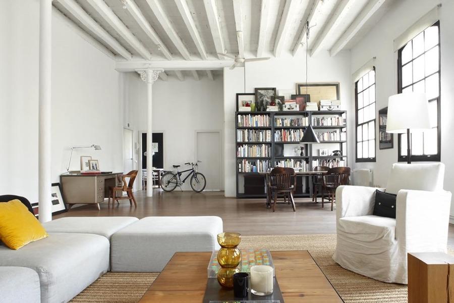 Foto vigas de madera estilo industrial de miriam mart - Vigas de madera en valencia ...