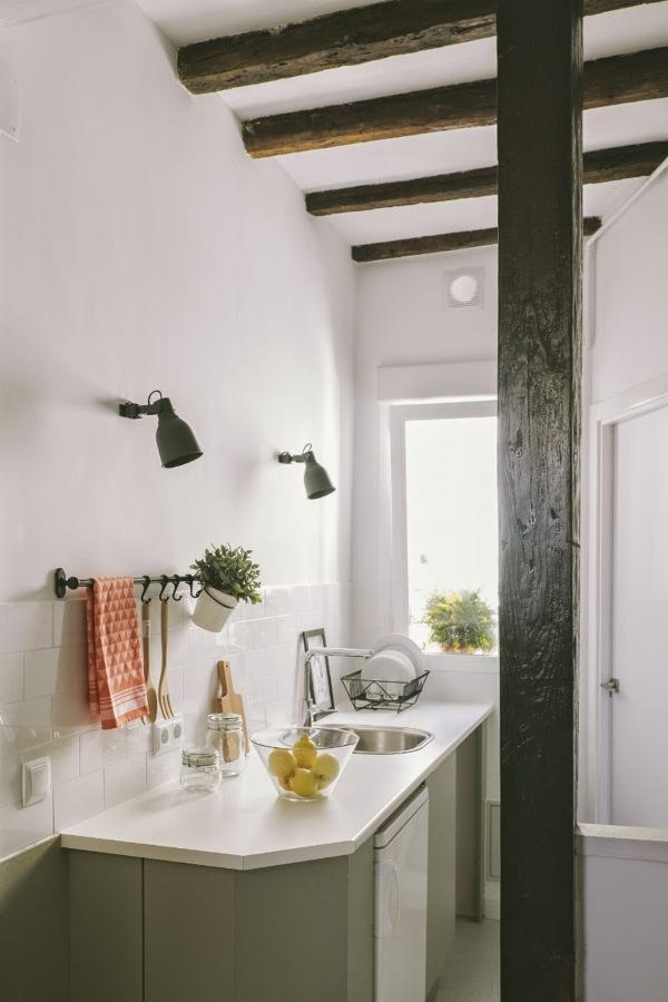 vigas decorativas baño