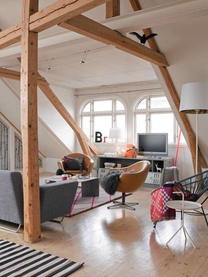 Vigas de madera no podr s dejar de mirar al techo ideas - Vigas de madera en valencia ...