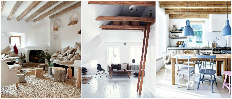 Vigas de madera no podr s dejar de mirar al techo ideas - Como colocar vigas de madera ...