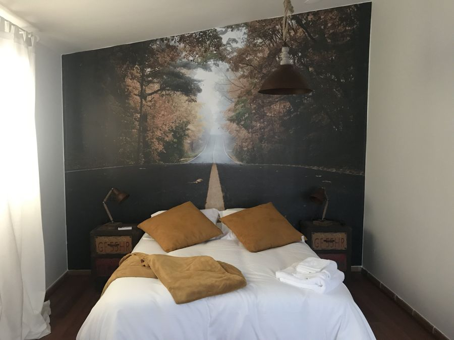 Vinilo en dormitorio