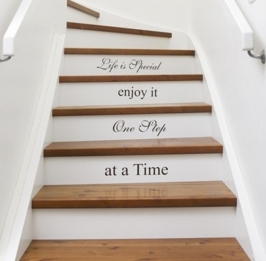 vinilo en escalera