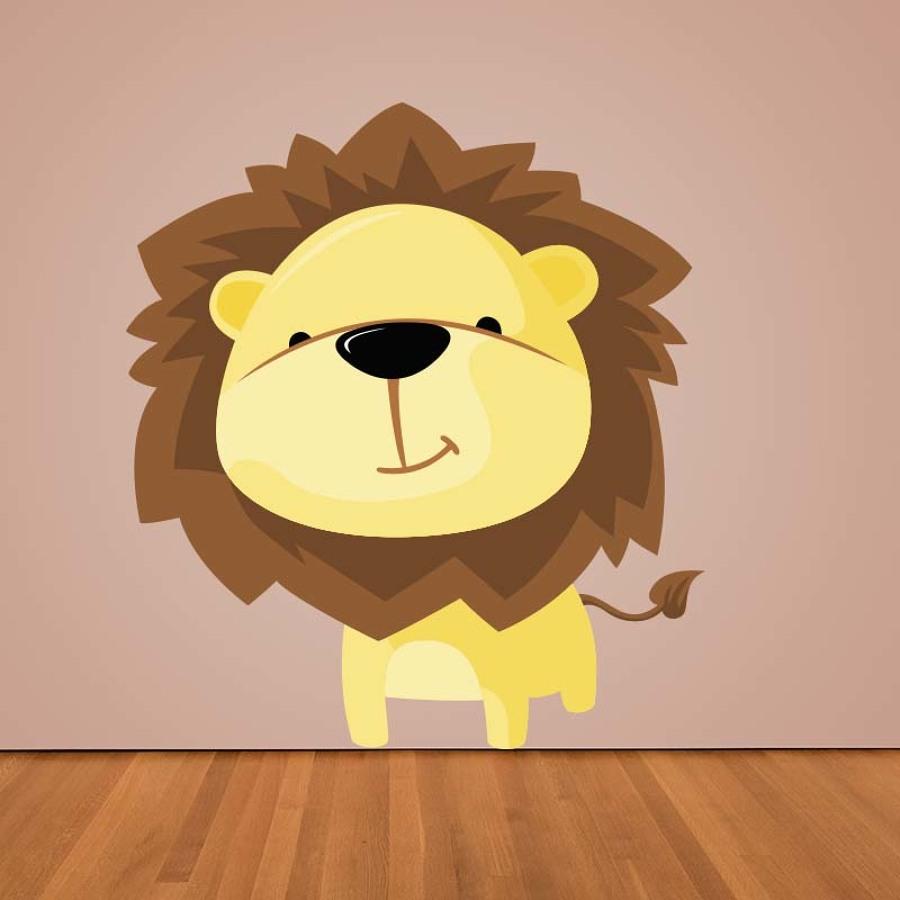 vinilo infantil león