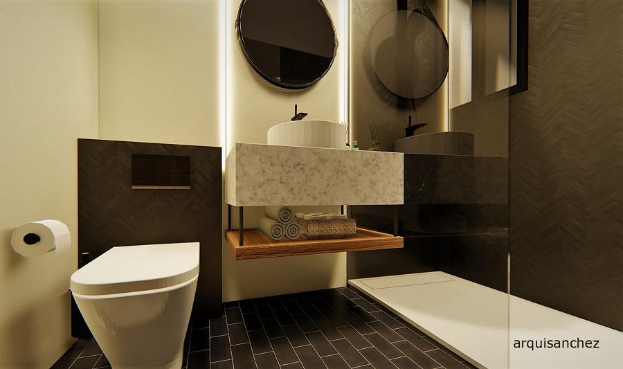 Vista 3D baño