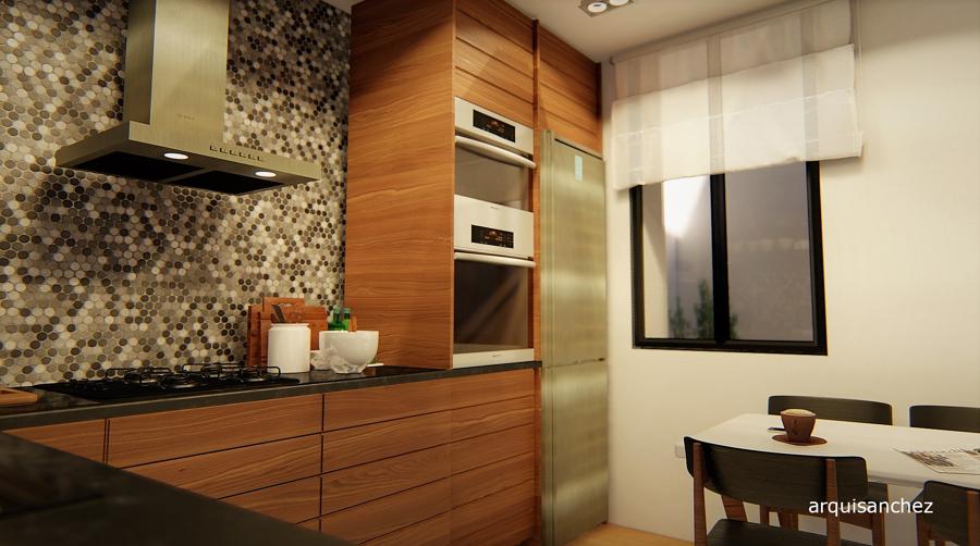 Vista 3D cocina